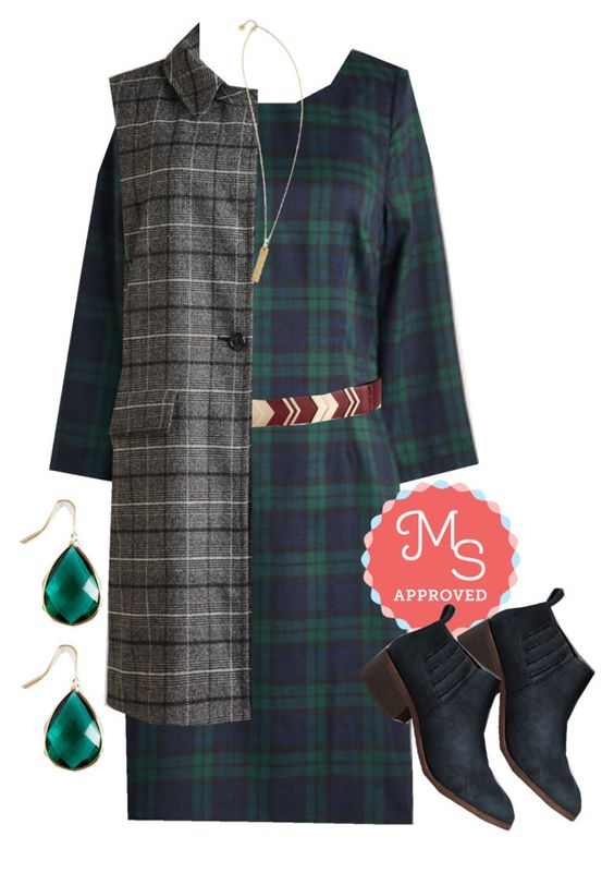 """Collecting Credits Dress"" by modcloth ❤ liked on Polyvore featuring BC Footwear"