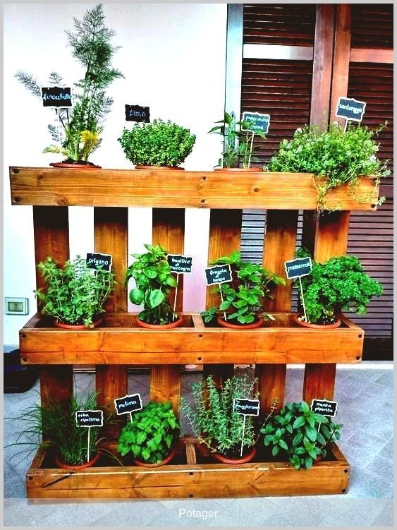 Potager Jardin Vous Voulez Recycler Une Palette En Potager Voici Une Inspiration Et Retrouvez Notre Tuto Sur Le Blog In 2020 Plants Garden