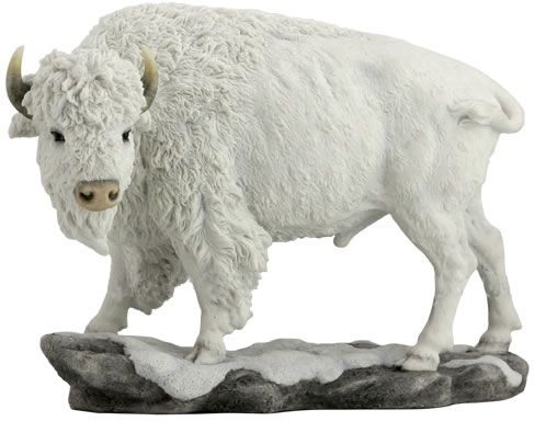 White Bison Buffalo Statue Sculpture Available At