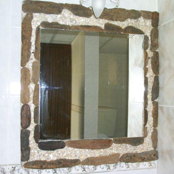Espelho casa de banho  da Suite casa das Camarinhas Almograve https://www.facebook.com/AlmogPedrinhas