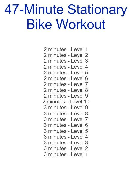 Exercise For A Healthy Heart Stationary Bike Workout Biking
