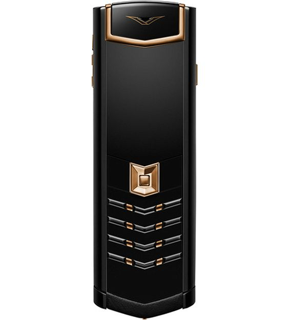 VERTU Signature 18ct red gold and stainless steel mobile phone