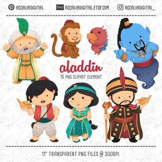Cute Aladdin Clip Art Cute Prince Sticker Jasmine Clip Art Etsy In 2021 Aladdin Princess Sticker Aladdin Party