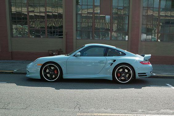 I'm a believer. Baby Blue Porsche Turbo