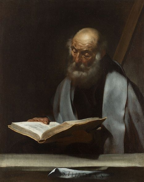 San Judas Tadeo (ca. 1609-1610), óleo sobre lienzo de José de Ribera
