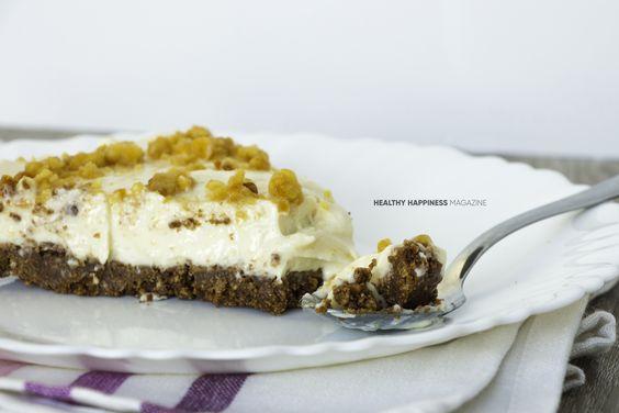 Cheesecake de mantequilla de maní http://healthyhappiness.fit/cheesecake-de-mantequilla-de-mani/