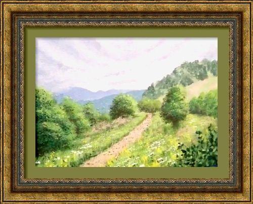 Dessin Et Peinture Video 2769 La Colline Dans Le Brouillard 1 4 Huile Ou Acrylique Le Blog De Lapalettedecouleurs Over Blog Com Videos De Peinture Peinture Peinture Artistique