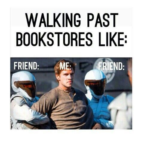 When your friends won't stop at every bookstore...: