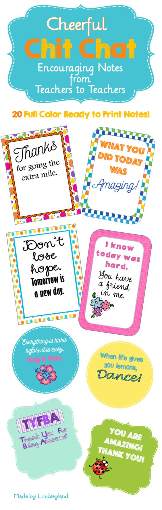 Cheerful Chit Chats Are Designed As A Tool For Co Workers To Easily Encourage One Another 20 Full Color And B W Notes Come Ready Print