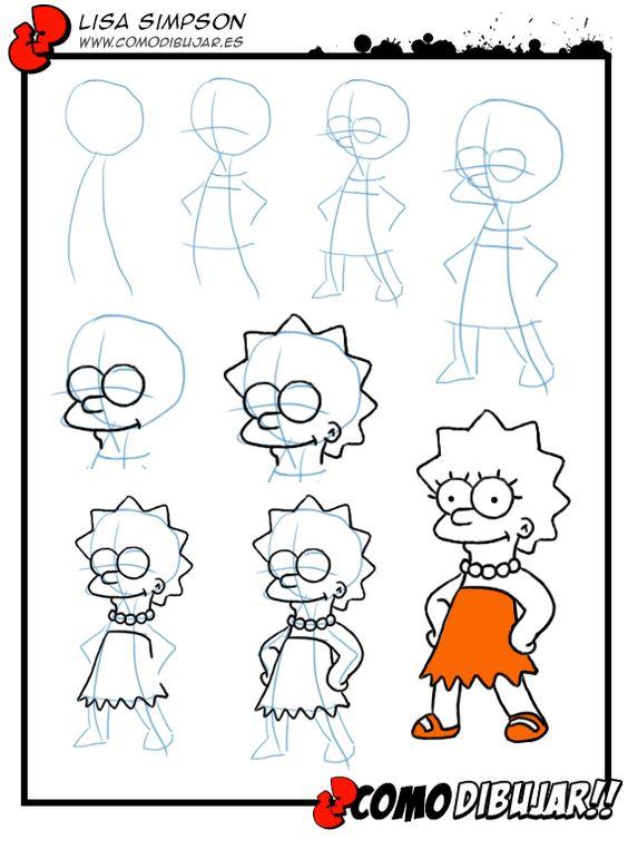 Aprende a dibujar a Lisa Simpson