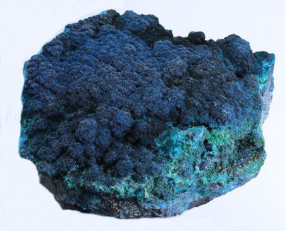 Cornetite & Chrysocolla                L'Etoile du Congo Mine (Star of the Congo Mine; Kalukuluku Mine), Lubumbashi,                 Katanga Copper Crescent, Katanga (Shaba), Democratic Republic of Congo (Zaïre)                15 x 10 x 7 cm