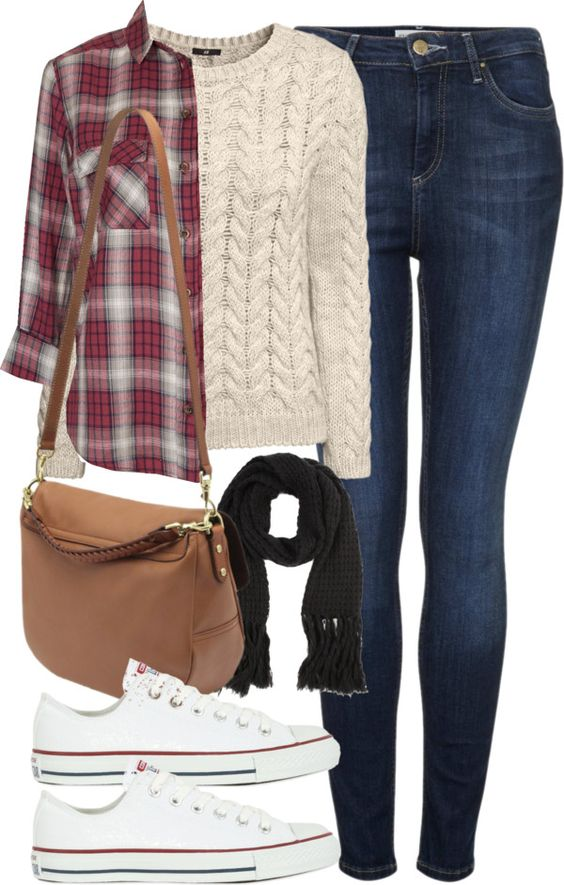outfit for a school trip by im-emma featuring dark blue jeans: