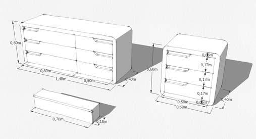 Esquema muebles para fabricación