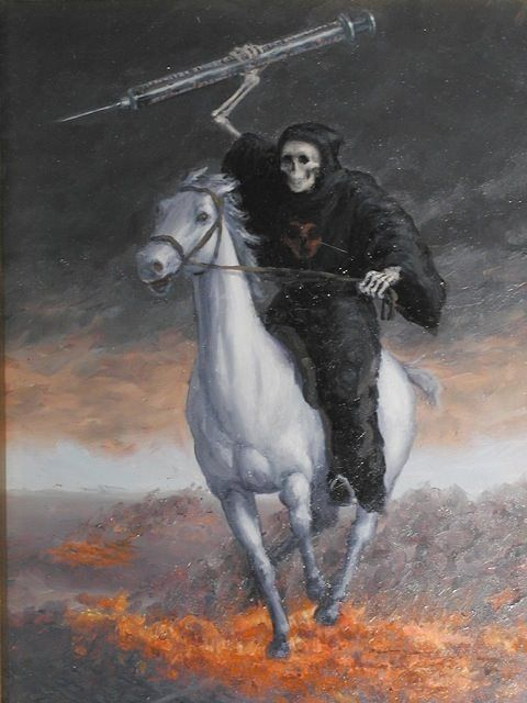 Un jinete del Apocalipsis posmoderno, obra de Sandra Yagui.
