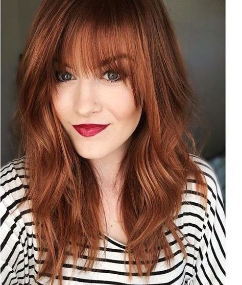 23 Best Medium Length Hairstyles With Bangs For 2018 2019 Strawberry Blonde Hair Color Hair Styles Hair Color Auburn