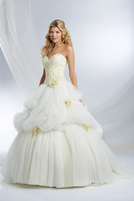 Belle inspired princess wedding dress 2015 disney 39 s for Fairytale inspired wedding dresses