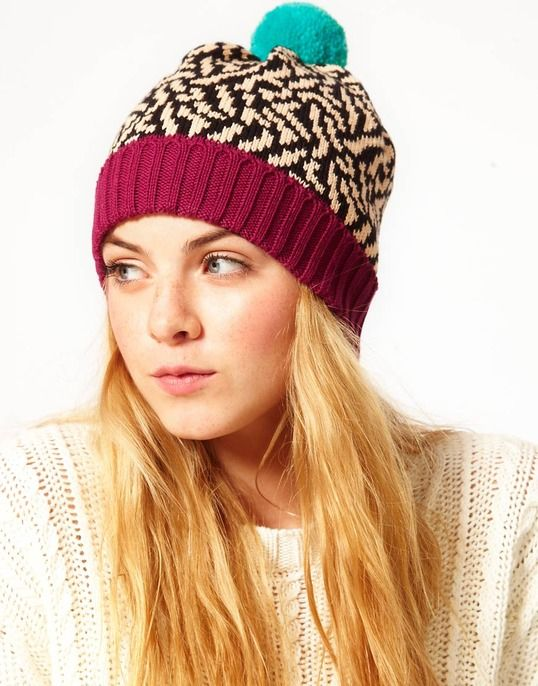 pom pom Ladies winter hat