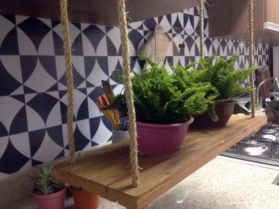 Como fazer um jardim suspenso #diy #quisque #jardimsuspenso #