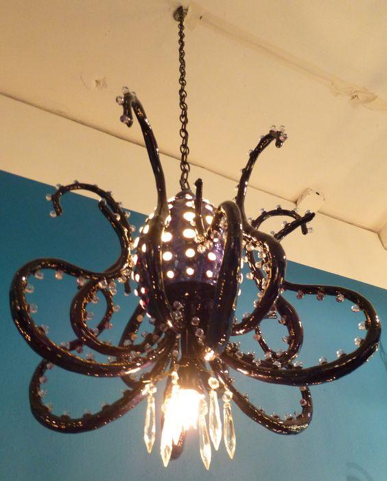 Octopus chandelier by artist Adam Wallacavage