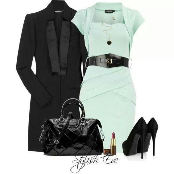 Love the mint color and the dress