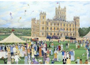 Highclere Castle 250 Piece Wooden Jigsaw Puzzle by Wentworth.  Great gift for Downton Abbey fans!