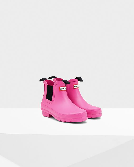 Kids Pink Chelsea Boots | Official US Hunter Boots Store