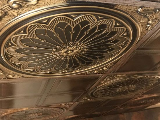 Rose Window Faux Tin Ceiling Tile 24 X24 238 Antique