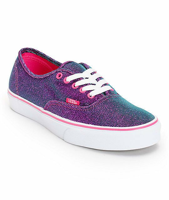 Purple sneakers, Vans authentic