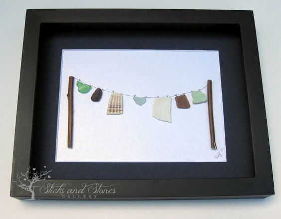 Laundry Room Decor Laundry Room Pebble Art by SticksnStone on Etsy