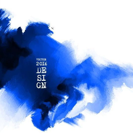Blue Ink Paint Background Art Vector 02 Free Eps File Blue Ink