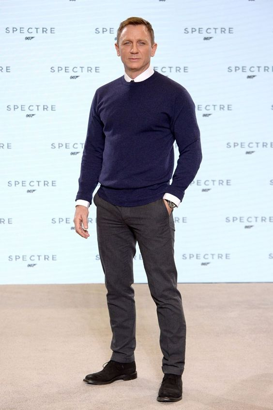 Daniel Craig at new Bond film Spectre unveiling.