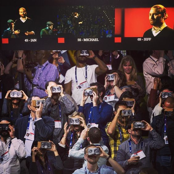 An awesome Virtual Reality pic! Today @TED @chrismilk made history by blowing 1500 people's minds simultaneously in #virtualreality. So incredibly proud so inspired and so excited for the future of this medium that has yet to unfold. #googlecardboard #TED2016 #vr by emilycaldwelll check us out: http://bit.ly/1KyLetq