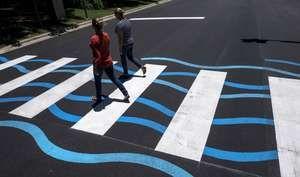 Creative Crosswalks: Austin's latest public art installment crosses Lake Austin Boulevard