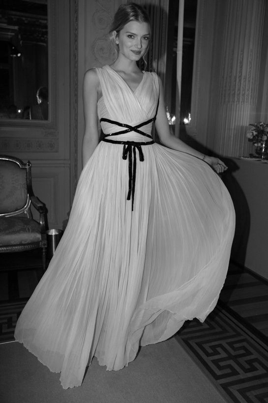 Lily Donaldson in Christian Dior.
