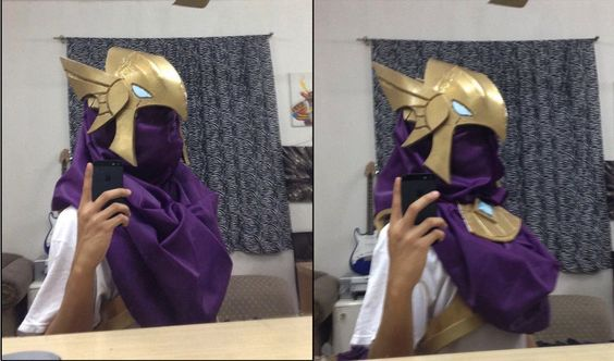 Azir Cosplay Attempt (Helmet Update) by Apathylex.deviantart.com on @DeviantArt