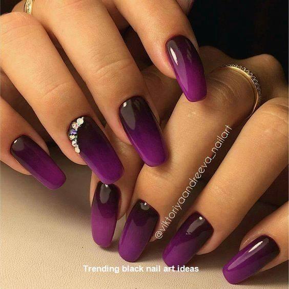 20 Simple Black Nail Art Design Ideas Nail Blacknails Manicure Nail Designs Fall Nail Art Designs Nail Art Design 2017
