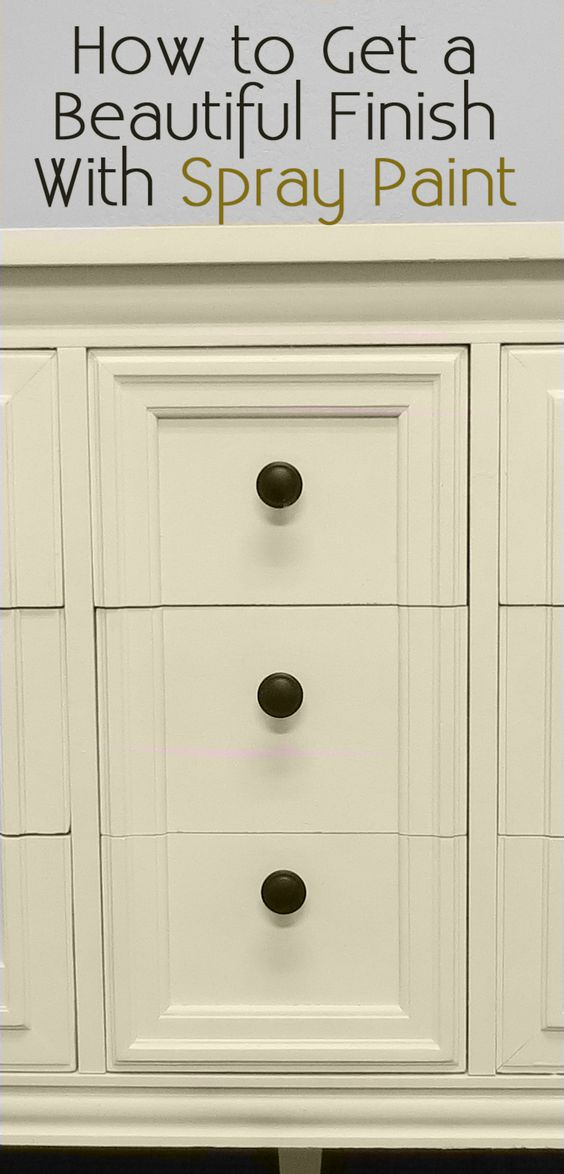 spray painting a dresser spray painting furniture home painting. Black Bedroom Furniture Sets. Home Design Ideas
