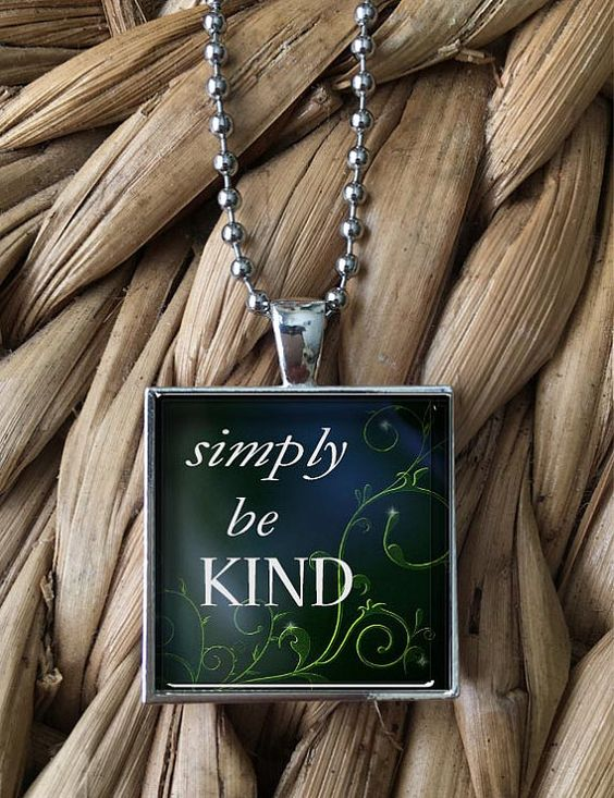 Simply Be Kind Pendant Necklace by MoonPoppyDesigns on Etsy