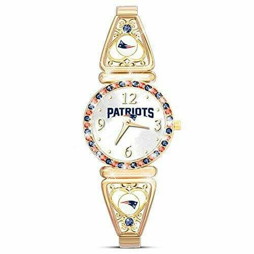 """My Patriots"" Officially Licensed New England Patriots Women's Watch by The Bradford Exchange http://order.sale/gHcd (via Amazon)"