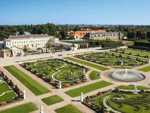 Grosser Garten Mit Galerie Und Schloss Herrenhausen Engelse Tuin Garten Tuin