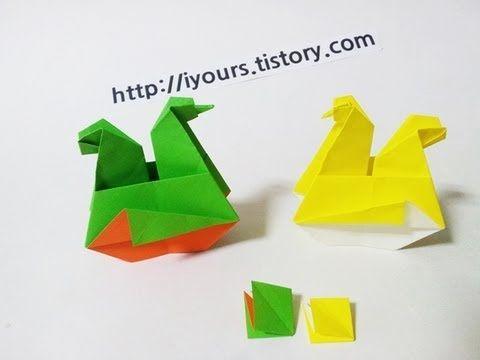 Origami: csirke üzleti terv papír kézműves, színező oldalak, origami