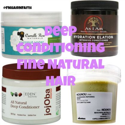 Banana deep conditioner for fine natural hair