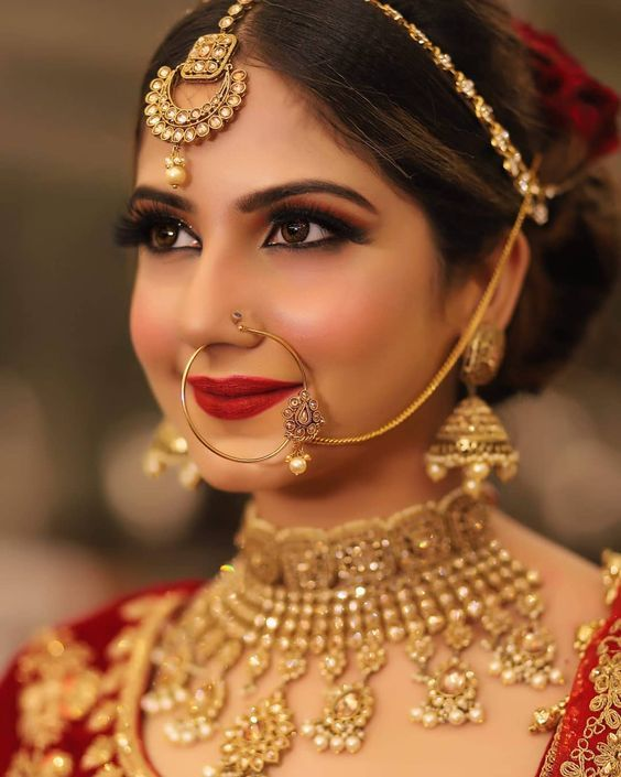 Bookeventz Choice Of Best Makeup Artist For Weddings Traditional Bridal Jewelry Indian Bridal Makeup Bridal Makeup Looks