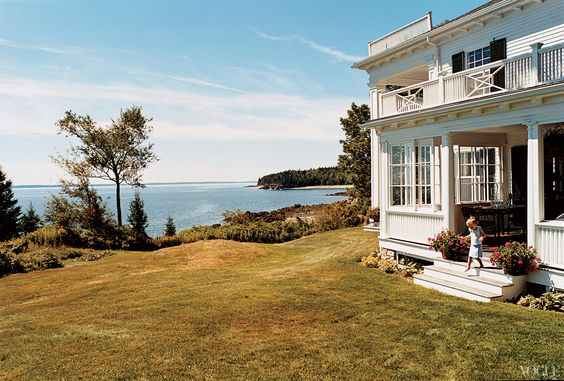 Marina Rust, Penobscot Bay, Maine || Bird Cottage, on an island in Penobscot Bay, was built in 1899 and has been presided over by five generations of women from the author\'s family.
