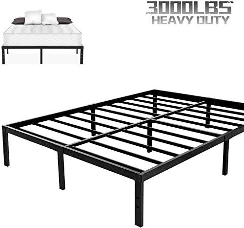 Buy Noah Megatron Heavy Duty Queen Platform Bed Frame Slatted Bed Base 14 Inch Mattress Foundation Bed Frame 12 Inch Under Bed Storage No Box Spring Needed Qu In 2020 Platform Bed Frame Queen