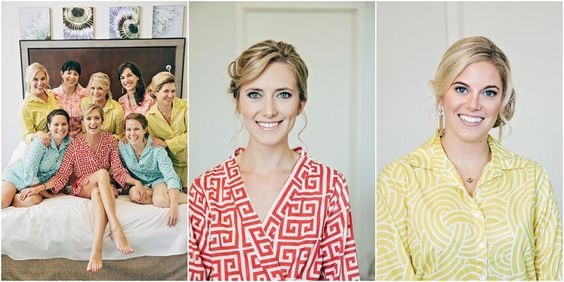Photos by Wheeler I love -- getting ready! the robes are cute too :)