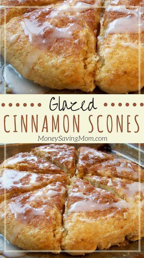 Glazed Cinnamon Scones Recipe | Money Saving Mom®