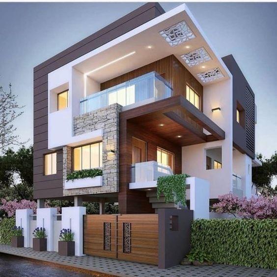 Top 10 Des Maisons Confortables Dans Le Style Moderne Duplex House Design Minimalist House Design House Front Design