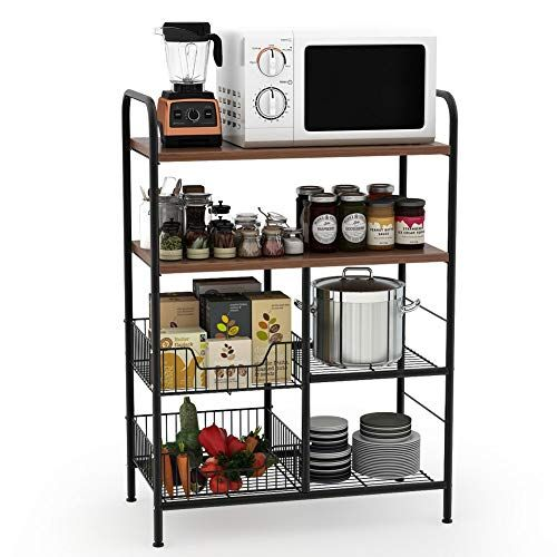 Tribesigns Kitchen Baker S Rack 4 Tier Utility Storage Shelf