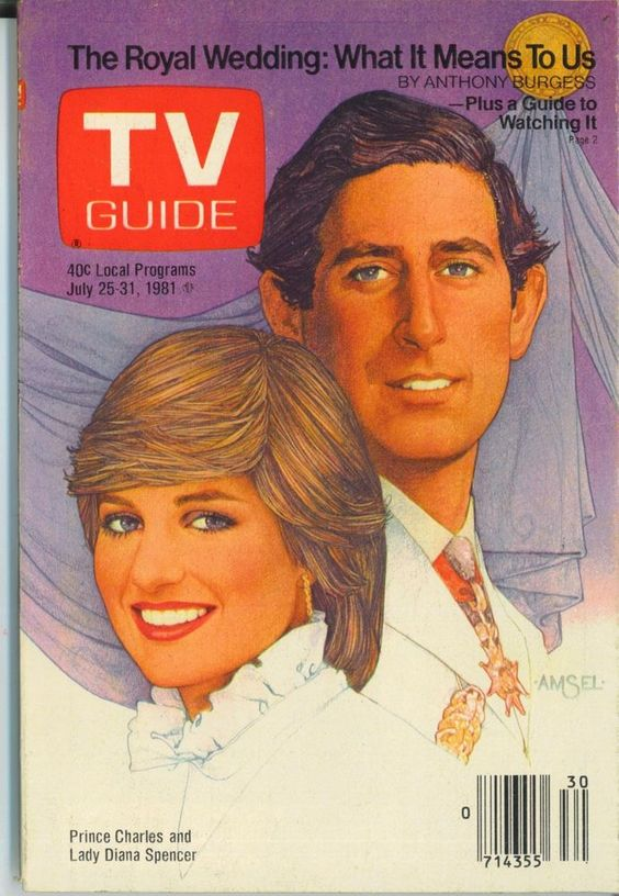 VERMONT TV GUIDE 7-25-1981 PRINCESS DIANA WEDDING~ROBIN WILLIAMS~EDGE OF NIGHT